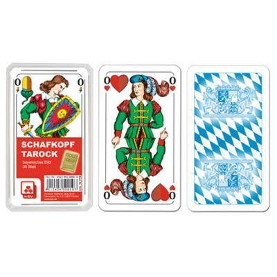 Schafkopf - Premium Leinen - in Klarsichtetui - Werberückseite 1-farbig