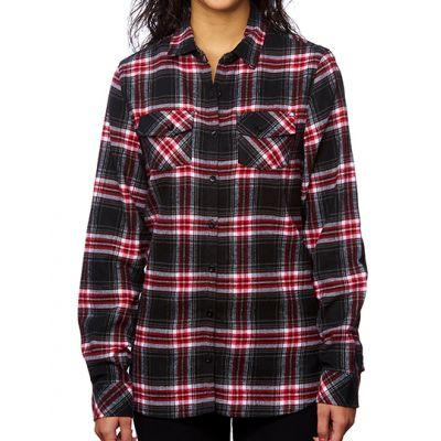Women`s Woven Plaid Flannel Shirt