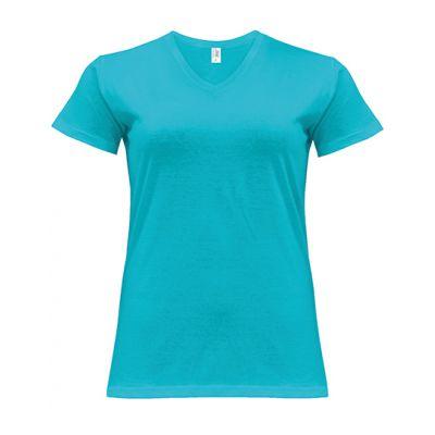 Curves T-Shirt V-Neck Lady