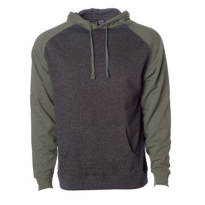 Men`s Lightweight Raglan Hooded Pullover