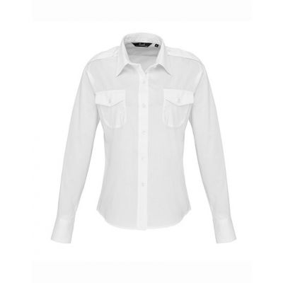 Ladies` Long Sleeve Pilot Shirt