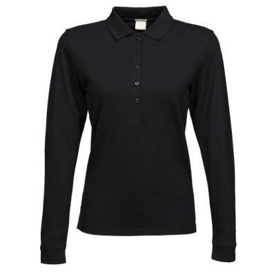 Ladies` Luxury Stretch Long Sleeve Polo