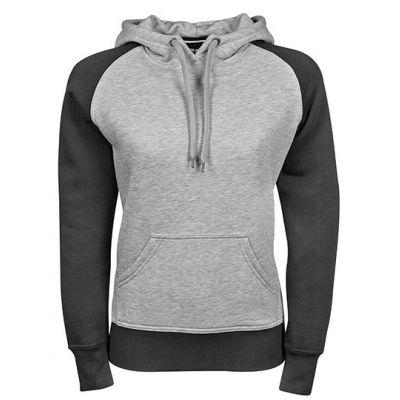 Ladies` Two-Tone Hooded Sweatshirt