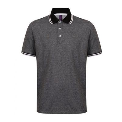 Men`s 2-Tone Pique Tipped Polo Shirt