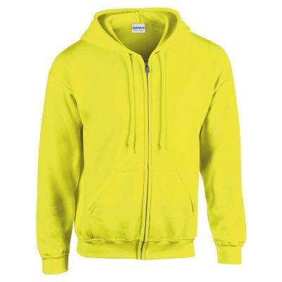 Sweatshirt HB Zip Hooded hellgelb XXL bedrucken