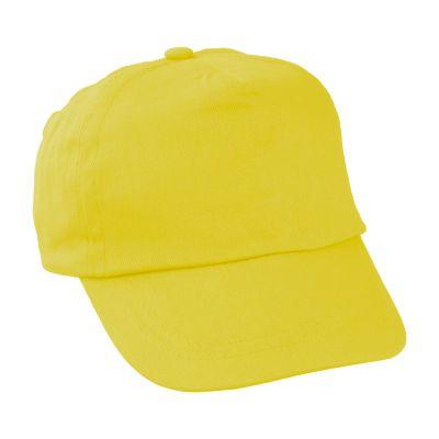 Kinder Kappe Sportkid gelb bedrucken