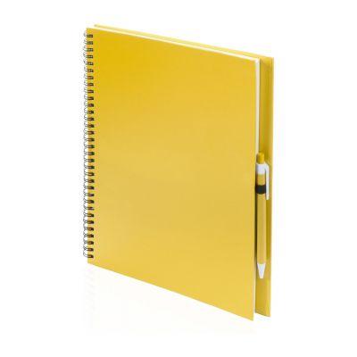 Notizbuch Tecnar gelb bedrucken