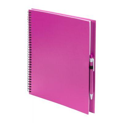 Notizbuch Tecnar pink bedrucken