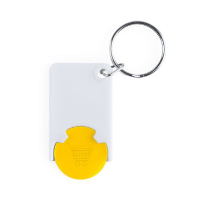 Schlüsselanhänger mit Einkaufswagenchip Zabax bedrucken