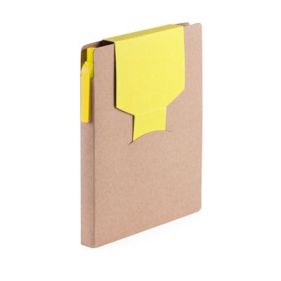 Notizbuch Cravis gelb bedrucken
