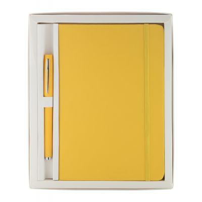 Notiz-Set Marden gelb bedrucken