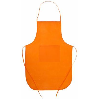 Schürze Chef orange bedrucken