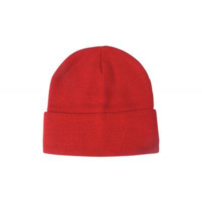 Wintermütze Lana rot bedrucken