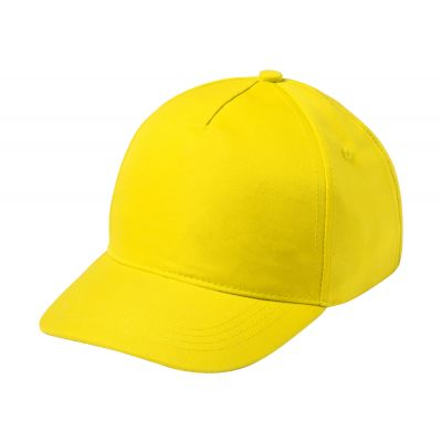 Baseball Kappe für Kinder Modiak gelb bedrucken
