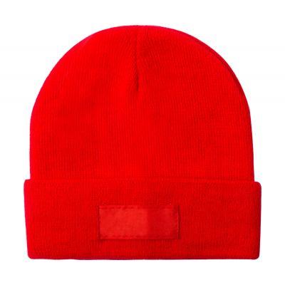 Wintermütze Holsen rot bedrucken