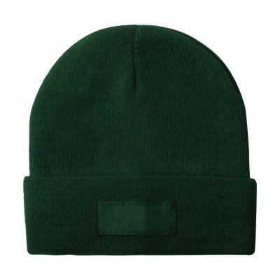 Wintermütze Holsen dunkelgrün bedrucken