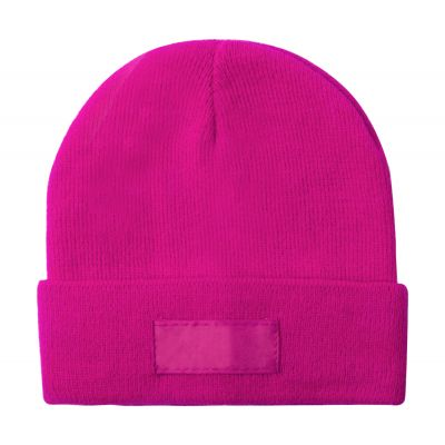 Wintermütze Holsen pink bedrucken