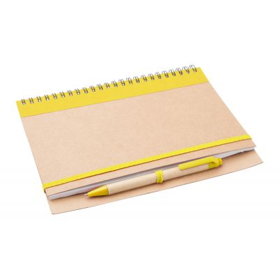 Notizbuch Tunel gelb bedrucken