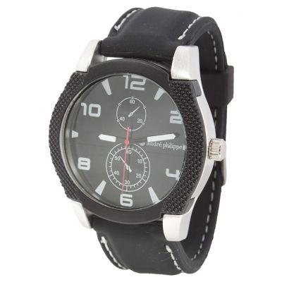 Herren-Armbanduhr Marquant schwarz bedrucken