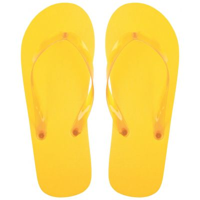 Zehensandalen Varadero gelb bedrucken