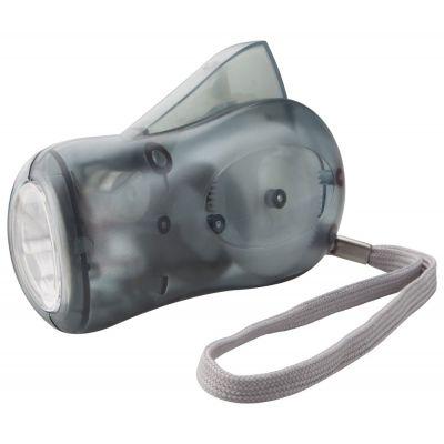 Dynamo-Taschenlampe H Power dunkelgrau bedrucken