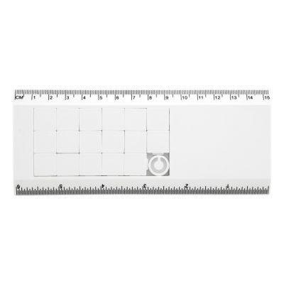 Lineal mit Schiebe-Puzzle Slidy weiß bedrucken
