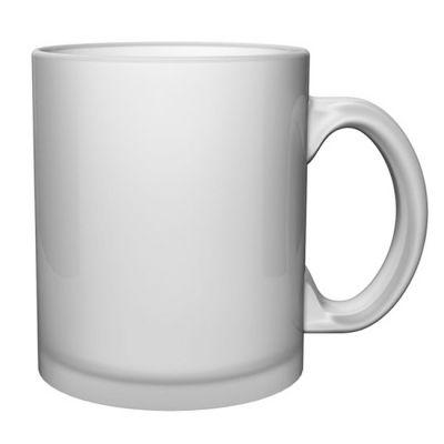 Glashenkelbecher Henkelbecher satiniert inkl. 1c Druck - Werbeartikel mit Ihrem Logo