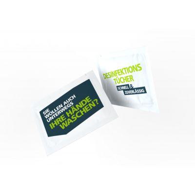Desinfektionstücher inkl. 2-seitigem Druck