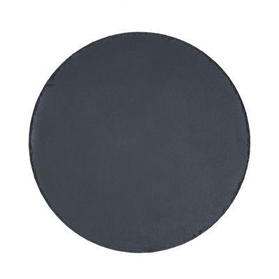 """Servierplatte """"Schiefer"""" rund, groß schwarz EL0011300"""