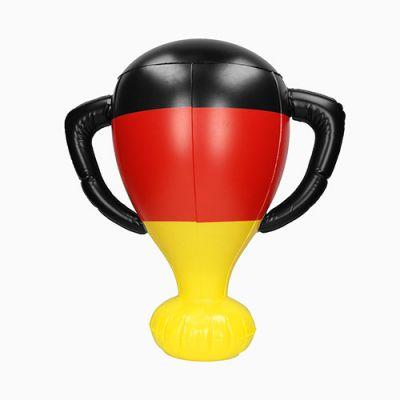 """Aufblasbarer Pokal """"Deutschland"""" schwarz-rot-gelb EL0012400"""