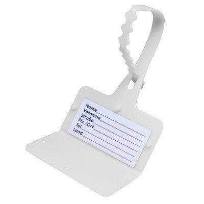 """Gepäckanhänger """"Address"""" weiß EL0050600"""