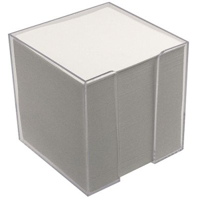 "Zettelbox ""Würfel"" transparent EL0056005"