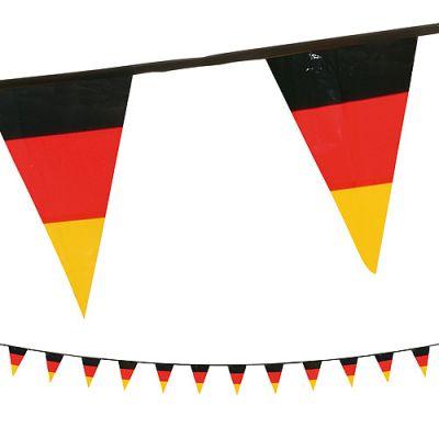 """Wimpelkette """"Deutschland"""" schwarz-rot-gelb EL0095200"""