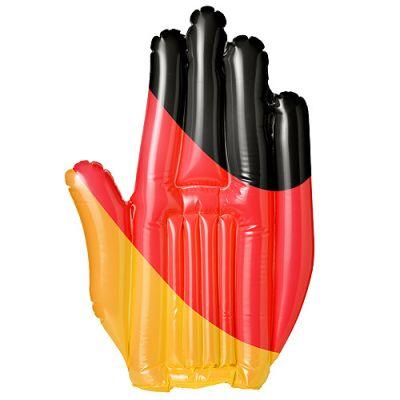 """Aufblasbare Winkehand """"Deutschland"""" schwarz-rot-gelb EL0101500"""