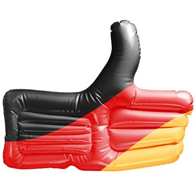 """Aufblasbarer Daumen """"Deutschland"""" schwarz-rot-gelb EL0101600"""