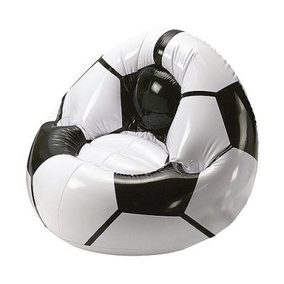 """Aufblasbarer Fußballsessel """"Big"""" weiß-schwarz EL0103200"""