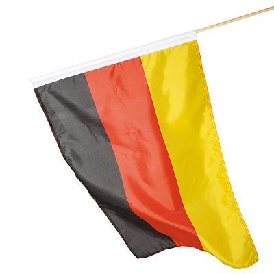 "Fahne ""Holzstab"" schwarz-rot-gelb EL0105400"