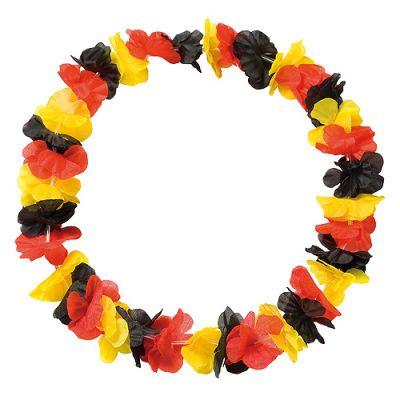 "Blumenkette ""Laola"" schwarz-rot-gelb EL0106100"