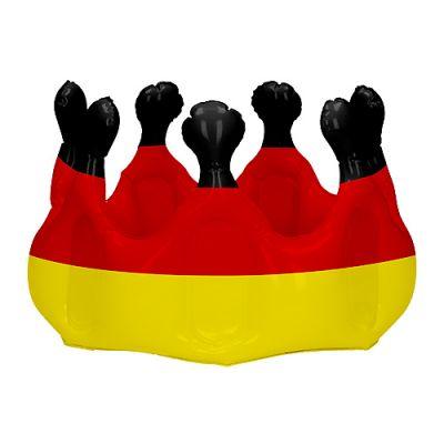 """Aufblasbare Krone """"Deutschland"""" schwarz-rot-gelb EL0116600"""