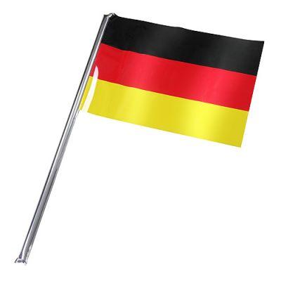 """Fahne, selbstaufblasend """"Deutschland"""" klein schwarz-rot-gelb EL0118700"""