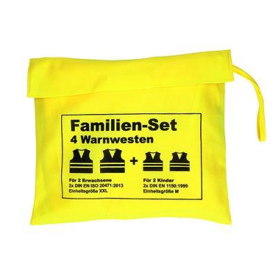 "Warnwesten-Set ""Family"" hellgelb EL0129900"