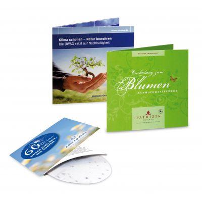 Green-Card Sommerblumen Digitaldruck 4/0c