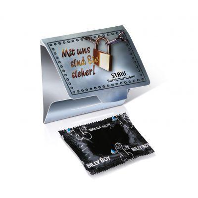 Etui mit einem Marken-Kondom mit Werbedruck 1c bedrucken (EU0000700)