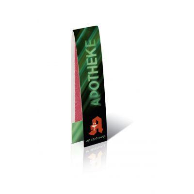 Briefchen mit 2 Nagelfeilen mit Werbedruck 1c bedrucken (EU0000100)