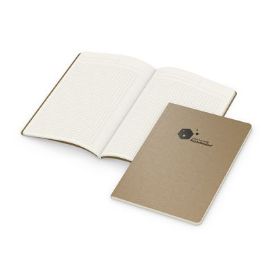 Copy-Book Creme A5 Bestseller inkl. Prägung mit Logo bedrucken - Werbeartikel
