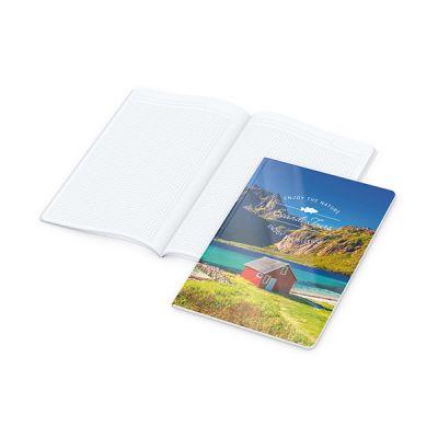 Copy-Book White A4 Bestseller inkl. 4C Druck mit Logo bedrucken - Werbeartikel
