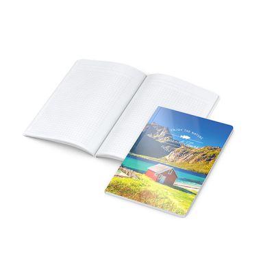 Copy-Book White A5 Bestseller inkl. 4C Druck mit Logo bedrucken - Werbeartikel