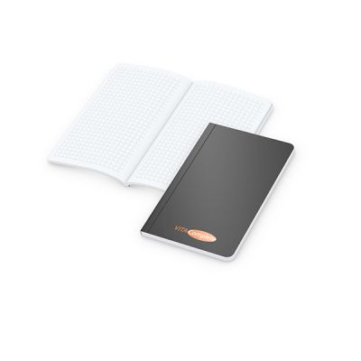 Copy-Book White Pocket Bestseller inkl. 4C Druck mit Logo bedrucken - Werbeartikel