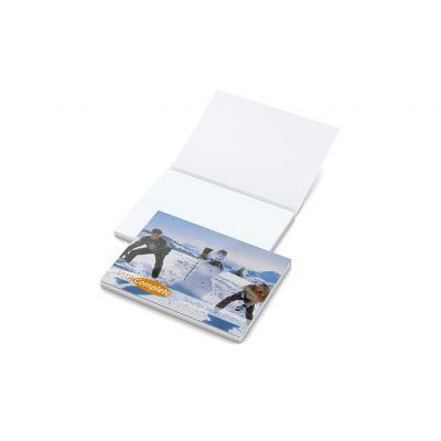 Cover Karton White Bestseller inkl. 4C Druck mit Logo bedrucken - Werbeartikel