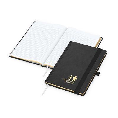 Gold-Book A5 Bestseller inkl. Prägung mit Logo bedrucken - Werbeartikel